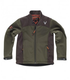 Chaqueta WorkShell S8120 verde/marron