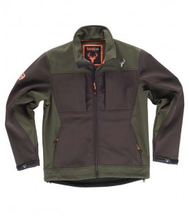 Chaqueta WorkShell S8620 Marrón/Verde