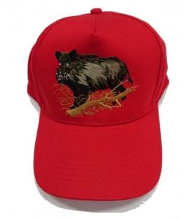 Gorra Roja bordado Jabali 1