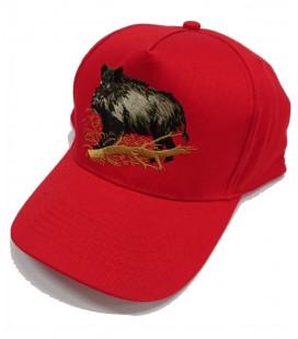 Gorra Roja bordado Jabali 2