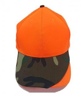 Gorra Naranja y Camuflaje 1