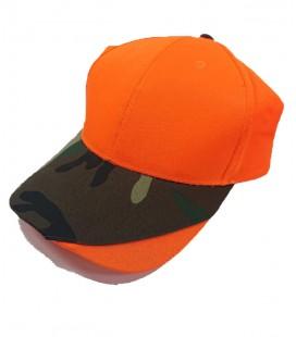 Gorra Naranja y Camuflaje 2
