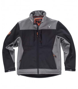 Chaqueta WorkShell S8620 Negro/Gris